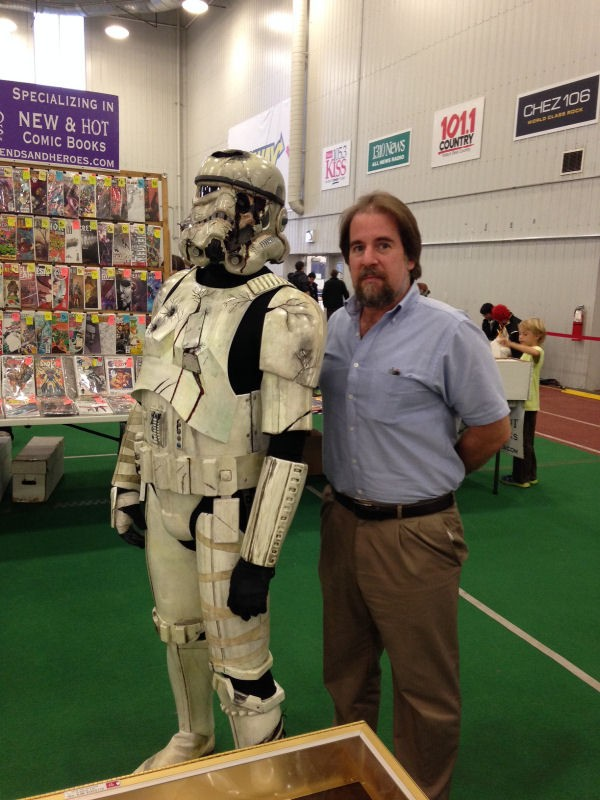 Sean and a Veteran Storm Trooper