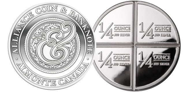 Alliance Coin 1 oz .999 Silver Round $22 (Reg. $36)