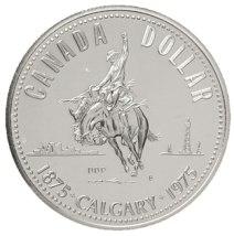 "1975 ""Calgary"" Silver Dollar (in capsule) $9"