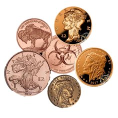 Zombucks Super Special: Set of 5 Copper Apocalypse Coins. $10 (Reg. $20)