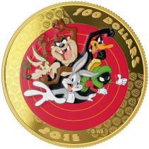 Looney Tunes $100 Gold Coin