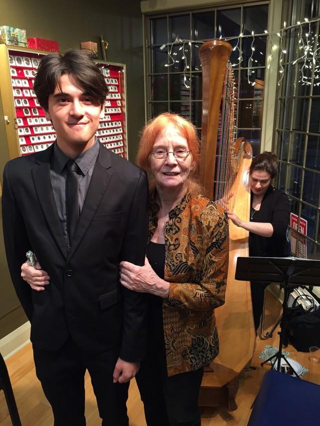 Fenton Isaacs with grandmother, Shannon Isaacs