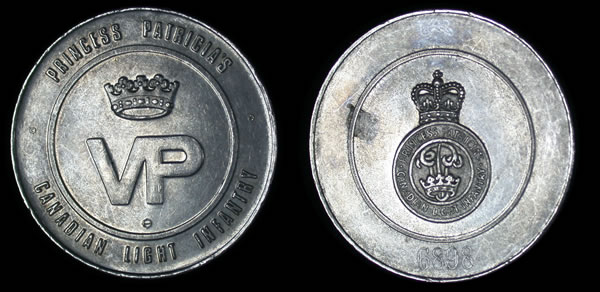 Princess Patricia Canadian Light Infantry Challenge Coin I