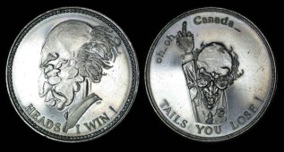 Trudeau Heads or Tails Medal