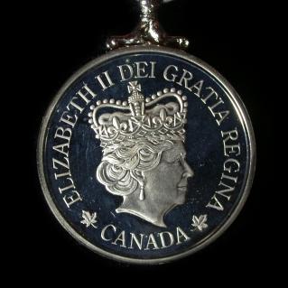 2012 Elizabeth 2nd Medal - back