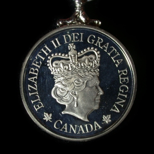 2012 Elizabeth 2nd Medal - back