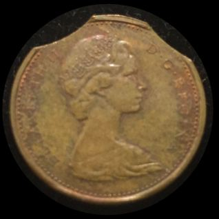 Clipped 1971 Penny Obverse