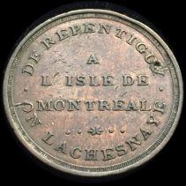 Montreal 1808 6 Pence Bridge Token B