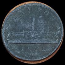 A Rare Lauzon Ferry Token of 1821