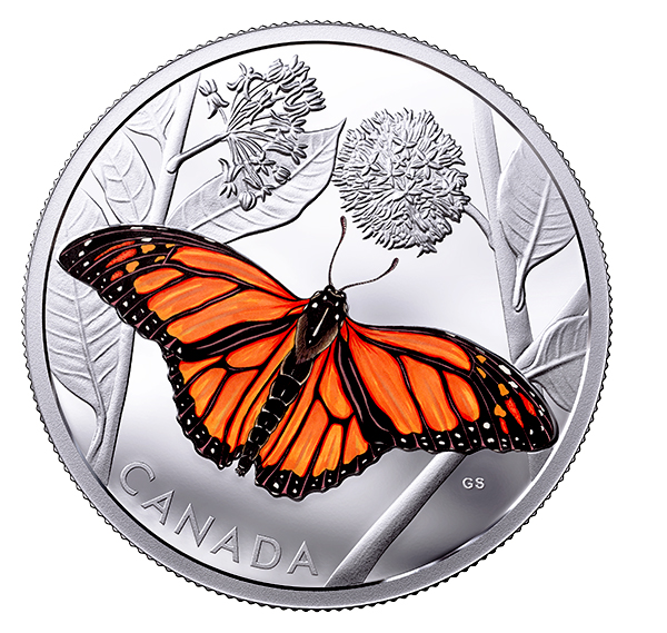 2017 Monarch Butterfly coin from the Royal Canadian Mint