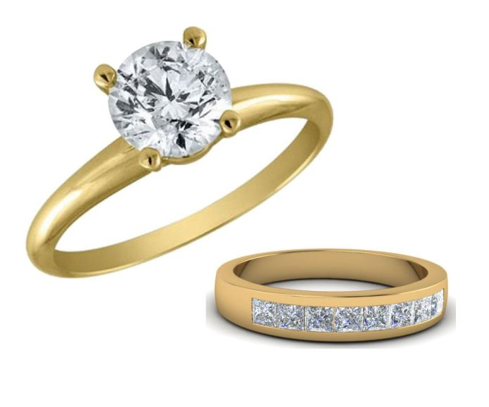 Diamond and gold engagement rings from Almnote's Alliance Coin