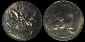 1973 Double Denomination Coin Error