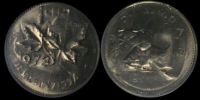 1973 Double Denomination Coin Error