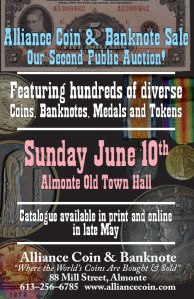 2018 Live Coin Auction poster