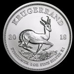 Silver Krugerrand front of coin