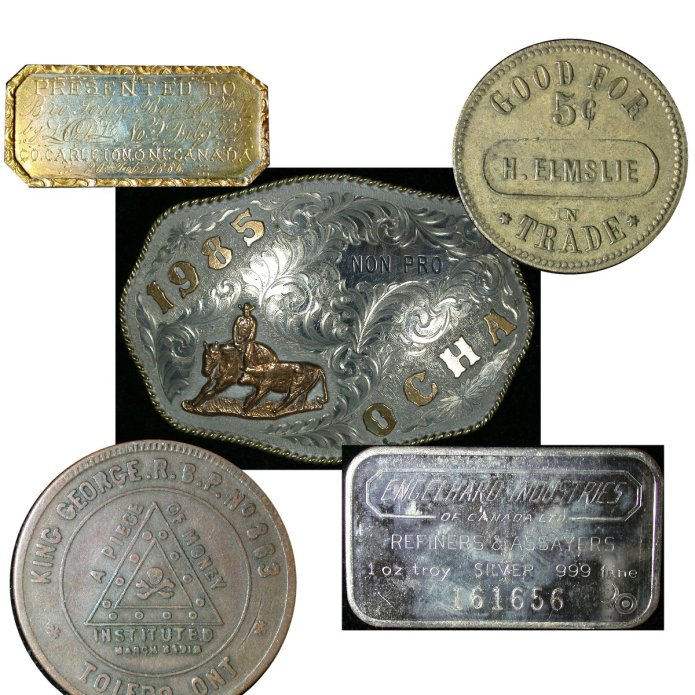 A sample of the coins and medals to be found in our Weird & Wonderful ebay auction