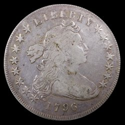 "United States ""Draped Bust"" Silver Dollar of 1796"