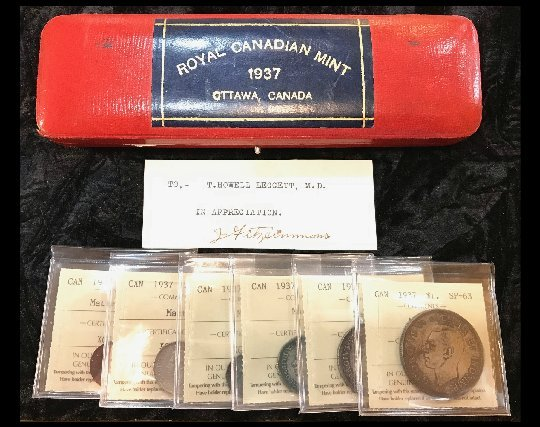 item118_A 1937 Specimen Set to a prominent Canadian Physician
