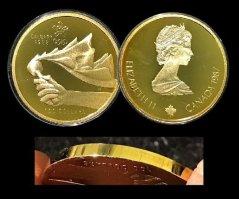 item222_A Very Rare Calgary Olympic Gold Error