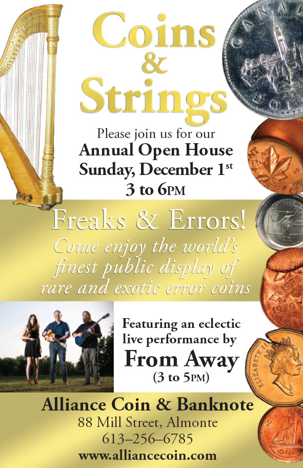 Poster for Coins & Strings event 2019