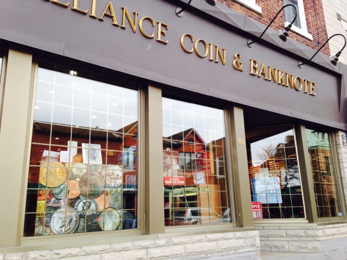 Alliance Coin & Banknote retail store