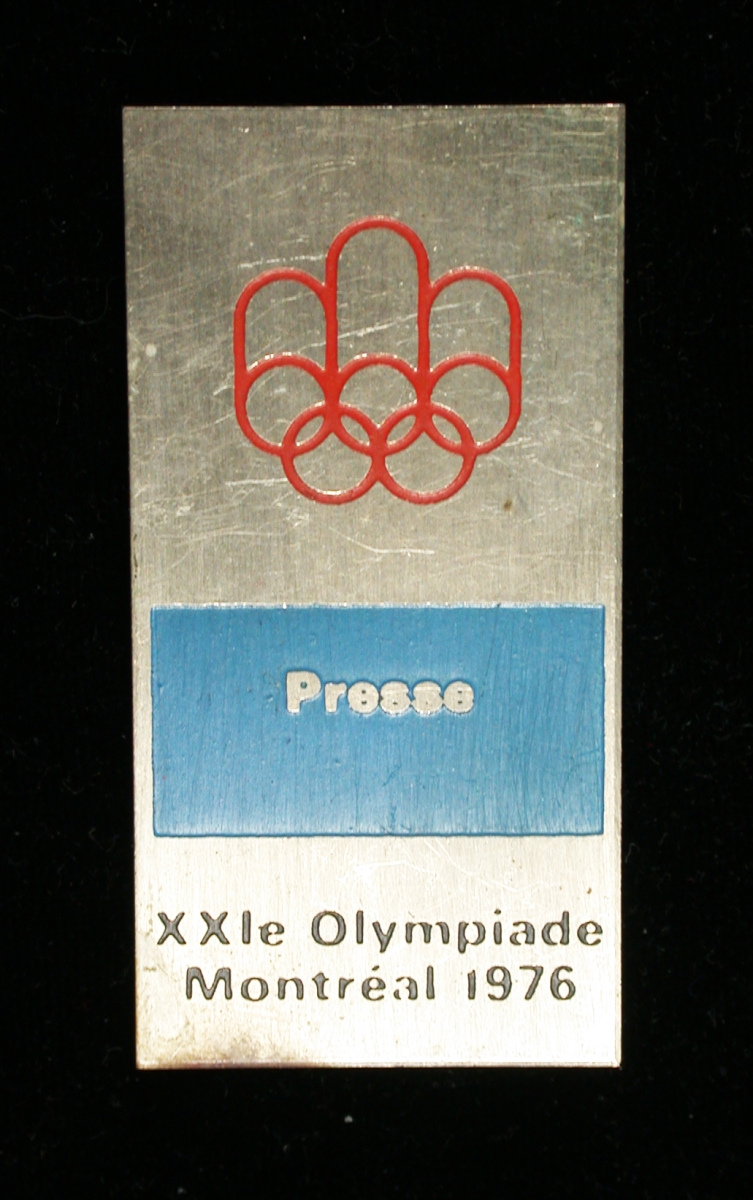 A rarely encountered Press Badge from the 1976 Montreal Olympics