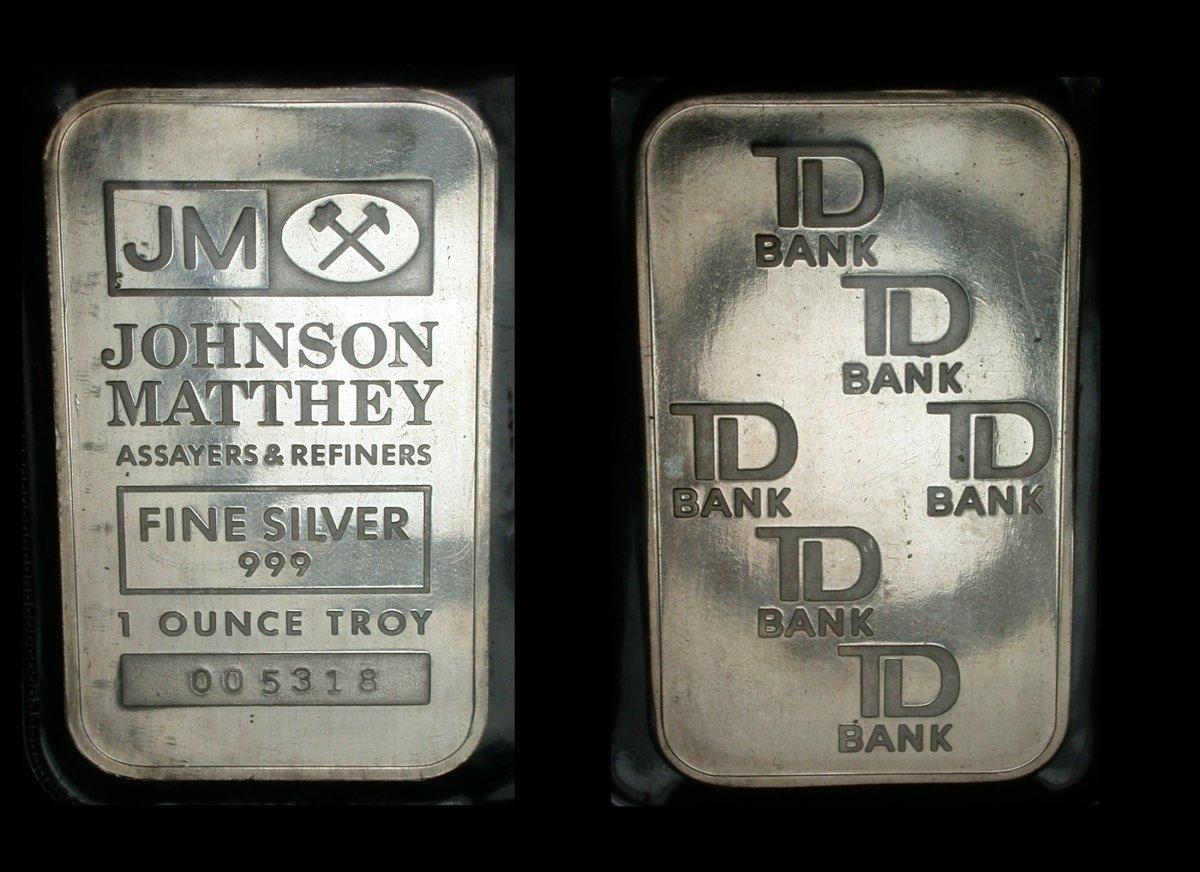 TD Bank Silver Bar