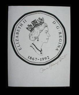 Canada 1992 Loon Obverse Print wtih Dora De Pedery Hunt Signature
