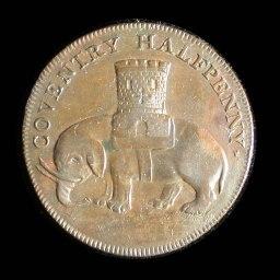 Elephant & Castle Lady Godiva Half Penny