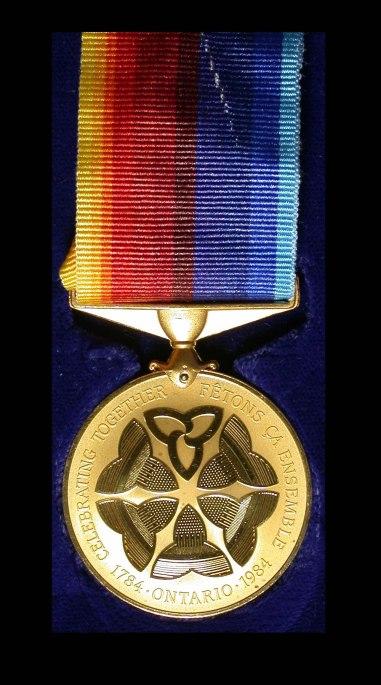 Ontario Bicentennial Medal 1984 II