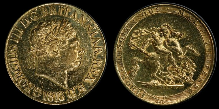 A scarce and early English Sovereign